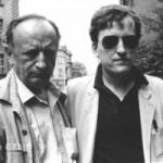 Duško Radović i njegov sin Miloš Radović (filmski i pozorišni reditelj)