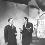 Duško Radović i Lola Đukić u Studiju TVB, 1965. godine.