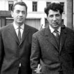 Gellu Naum (rumunski pesnik, dečiji pisac, prevodilac...) i Vasko Popa u Bukureštu 1962. godine