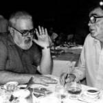 Vasko Popa i Haroldo de Campos  (brazilski pesnik, kritičar, prevodilac...) u italijanskom restoranu u Sao Paulu 1987. godine
