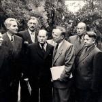 Konstantin Simonov (drugi sa leve strane) na III Kongresu književnika BSSR