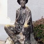 Spomenik Đuri Jakšiću podignut 1990. u Skadarliji (autor: Jovan Soldatović)