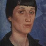 Portret Ahmatove iz 1922. godine (delo ruskog slikara i pisca Kuzma Sergeevich Petrov-Vodkin)