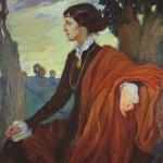 Portret Ane Ahmatove iz 1914. godine (delo slikarke Olge Della-Vos-Kardovskaya)