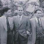 Oskar, Jaša i Loni Davičo slika iz 1951. godine