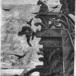 Ilustracija Alfreda Barbua iz prvog izdanja Bogorodičina crkva u Parizu (1831)