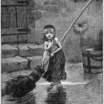 """Portret Kozete koji je napravio Emil Bajar, slika je iz prvog izdanja """"Jadnika"""" (1862)"""