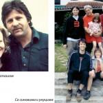 Sa suprugom Natašom, sinovima i unucima