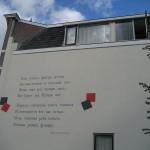 Pesma Aleksandra Bloka na zidu jedne kuće u  Lajdenu (Holandija)