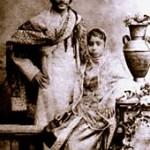Rabindranat Tagore i njegova supruga Mrinalini Devi (1883. godina)