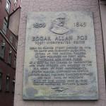 Ploča u Bostonu kojom je obeleženo mesto rođenja Edgara Alana Poa