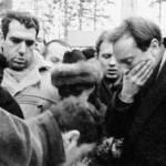 Josif Brodski na sahrani Ane Ahmatove